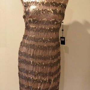 Gold beautiful cocktail dress